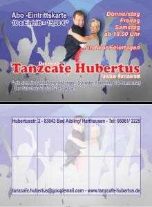 Tanzcafe Hubertus - Abokarten