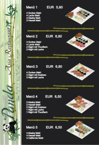 lamminierte SpeisekarteDIN A4